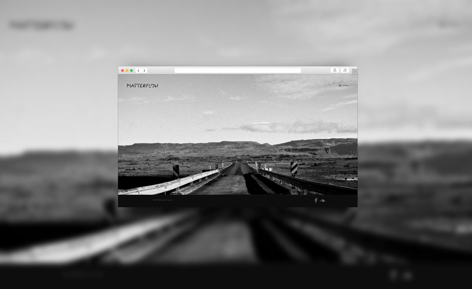 Réalisation du site officiel de Matterflow. Réalisation par le studio du flamant rose, Bordeaux