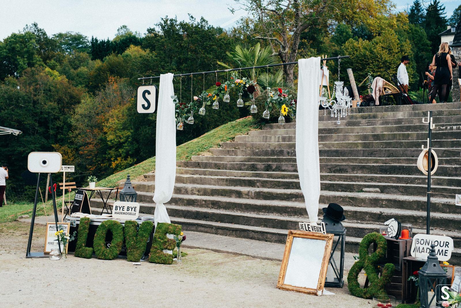 Illustration pour le stand de photobooth SIMON foto, au festival Bye Bye Mademoiselle. Réalisation studio du flamant rose, Bordeaux